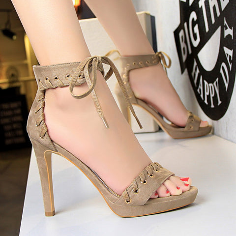 High Heels Sandals  Suede Shoe