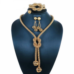 Beads Jewellery Set In Gold Colour