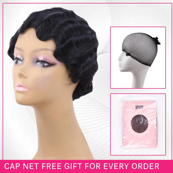 Finger Waves Wig Synthetic