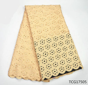 Beaded swiss voile lace