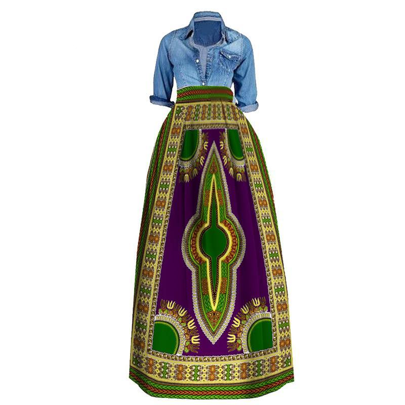 9296e2f2ff4 Plus Size Dashiki African Casual Skirt – C-FORTUNE