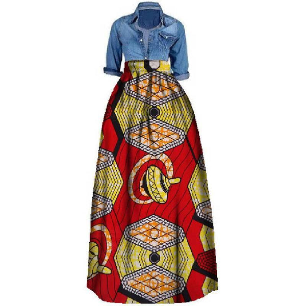 African Print  Skirt for women Plus Size