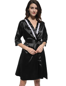 Robe Gown Lace  Bathrobe Nightdress