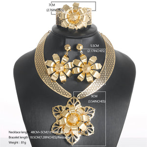 Gold Bead Necklace Jewellery Set For Brides