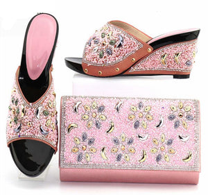 Pink Colour  Shoe And Bags