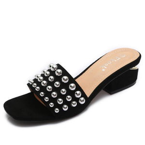 Rivets  sandals  shoes