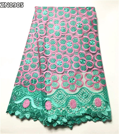 Embroidered  guipure lace