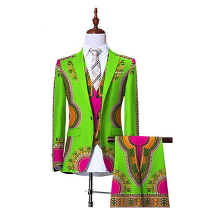 3 Piece Slim Fit Cowboy Men Suit