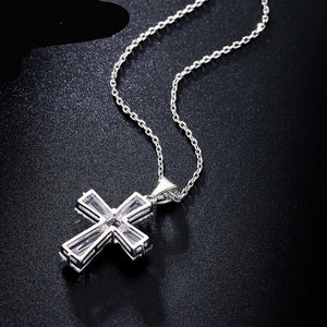 Cubic Zircon Cross Necklaces Pendants