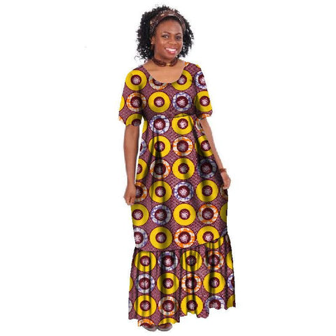 Plus Size Long Dress African Wax Print Dresses