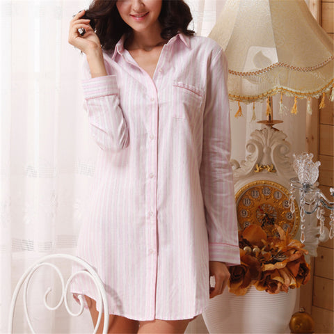Cotton Pyjama Shirt Nightgown