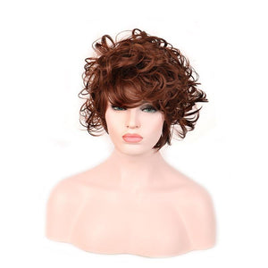 Reddish brown wig hair heat resistant synthetic wig