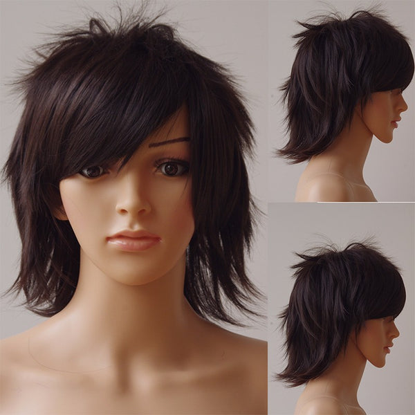 30cm Synthetic Black Brown Wig