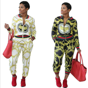 2 Piece Set  Print  Jacket and pants
