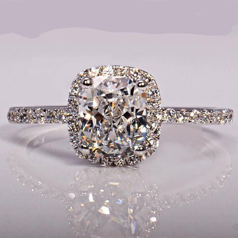 Wedding Band ring 3ct 5A Zircon cz 925