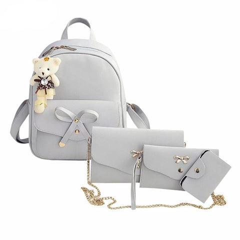 Four Pieces  Cross body  backpack