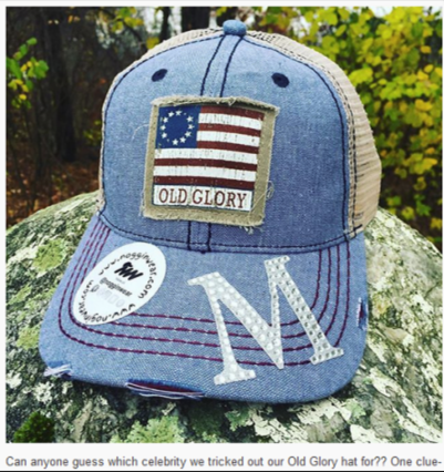 Nogginwear Old Glory Hat chosen for Mariah Carey's