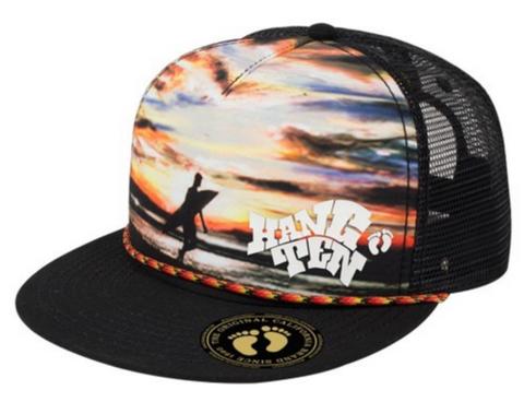 Hang Ten Foam Trucker Snapback Hat