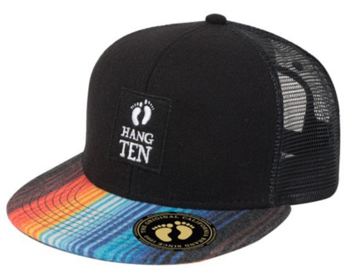 Hang Ten Multi-Color Felt Snapback with Felt Applique