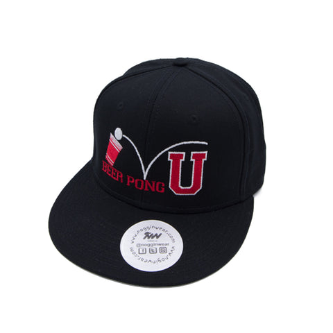 Beer Pong University Snap Back Hat