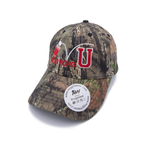 Mossy Oak Camouflage Beer Pong University Hat by Nogginwear