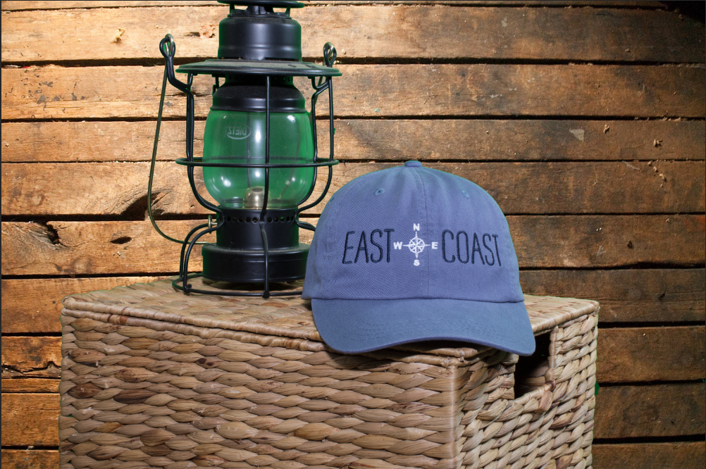 Adjustable Unstructured Blue East Coast Hat by Nogginwear