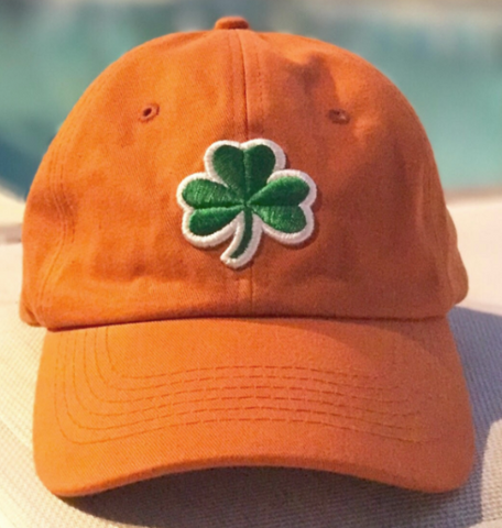 Unstructured Adjustable Irish 3 Leaf Clover Hat by Nogginwear