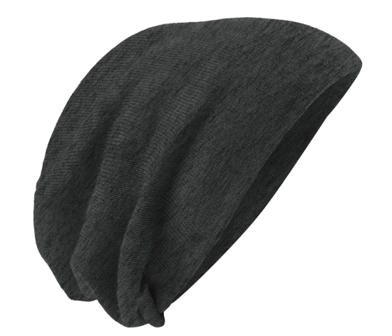 Charcoal Heather Slouch Beanie
