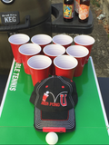 Beer Pong U Distressed Hat
