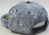 Hang Ten Printed Chambray Snapback Hat