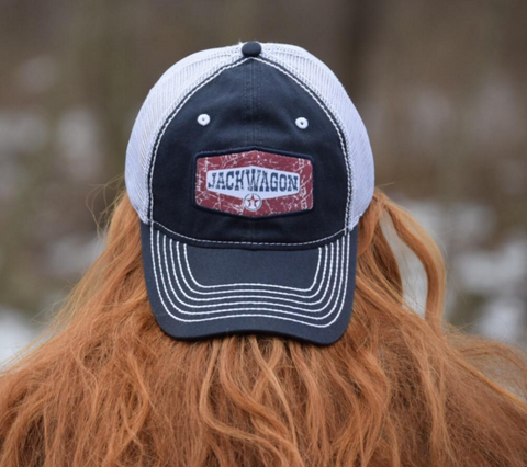Adjustable Trucker Mesh Back Jackwagon Hat by Nogginwear