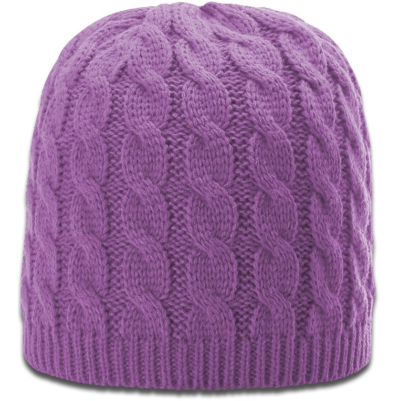 Women's Lavender Cable Knit Beanie