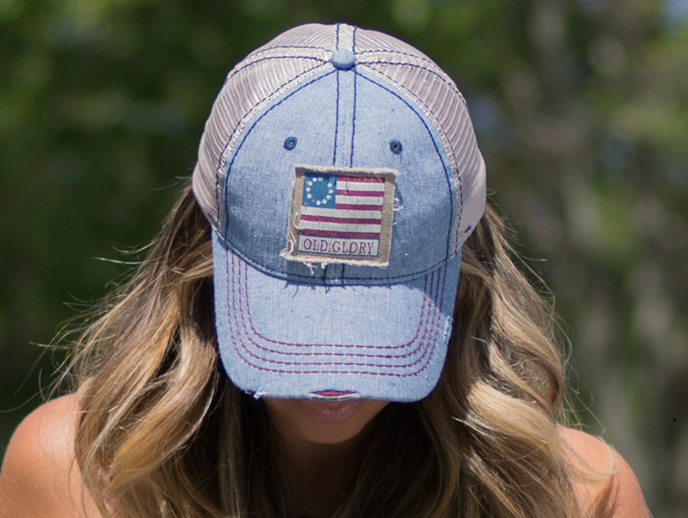 503dd3776e304c ... Old Glory American Flag Limited Edition Distressed Hat by Nogginwear ...
