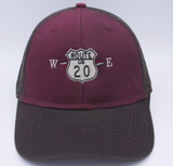 US Route 20 Trucker Hat by Nogginwear