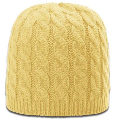 Women's Sand Cable Knit Beanie