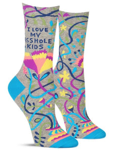 Love My A Hole Kids Women's Crew Sock