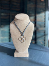 Load image into Gallery viewer, 4 Petal Hammered Sterling Flower Necklace