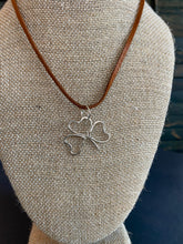 Load image into Gallery viewer, Shamrock Hammered Sterling Necklace
