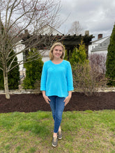 Load image into Gallery viewer, One Size Cotton Sweater - Aqua