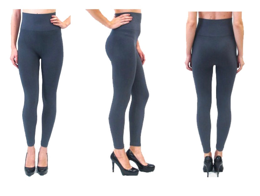 Leggings - High Waisted - Charcoal