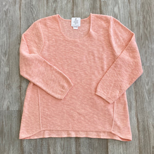 One Size Cotton Sweater - Salmon