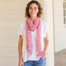 Load image into Gallery viewer, Pink Floral Scarf