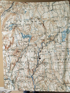 Vintage Map Blanket of Washington, CT