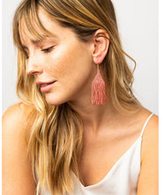 Load image into Gallery viewer, Terra Cotta Petite Fringe Earring