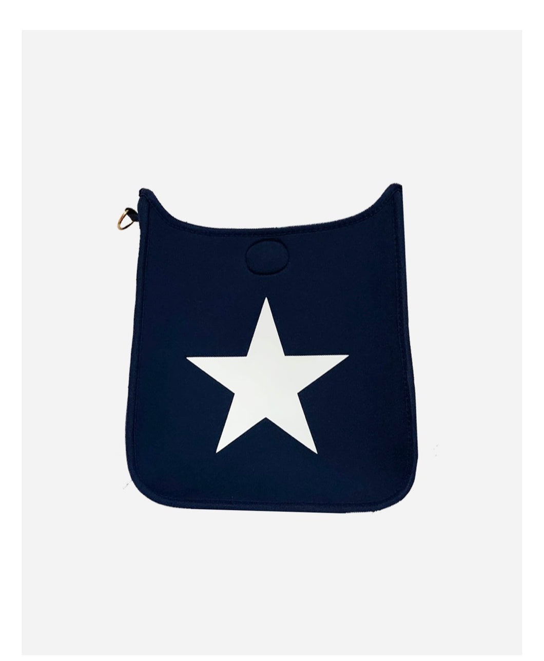 Navy Neoprene Messenger w/ White Star - NO STRAP ATTACHED