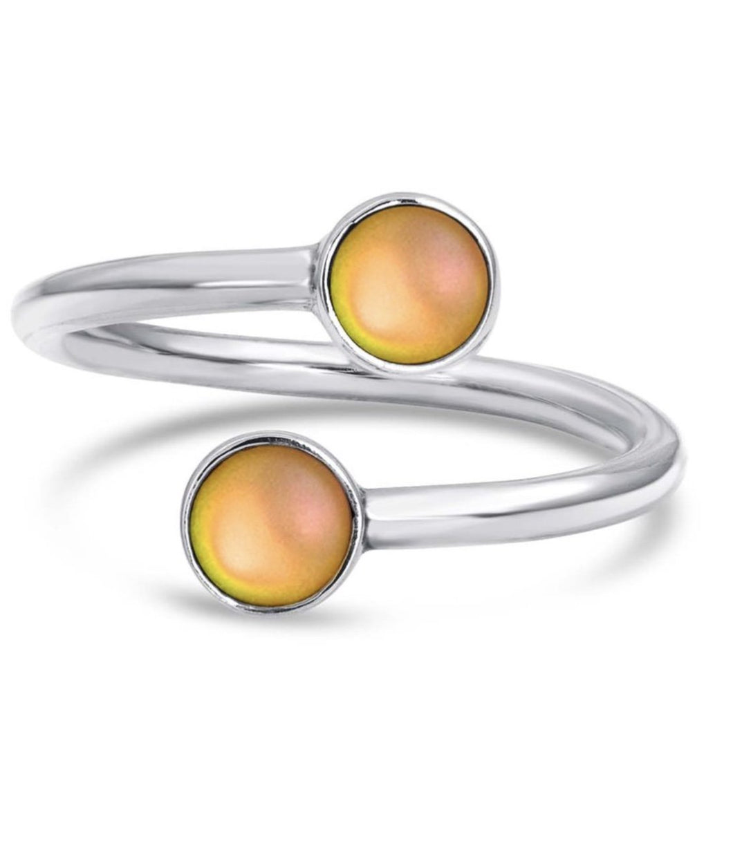 Hand-crafted Sterling Silver Double Ring - Gold