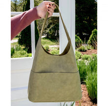 Load image into Gallery viewer, Faux Suede Hobo Handbag - Sage