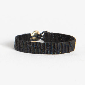 Black Solid Thin Luxe Bracelet