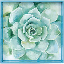 "Load image into Gallery viewer, Verdant Succulent 15"" Square Lacquer Art Serving Tray"