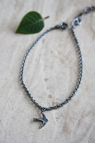 Swallow Bracelet - Oxidised